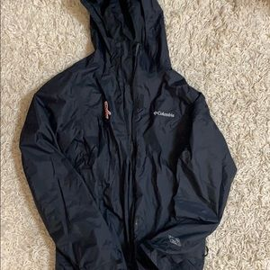 Columbia black rain jacket
